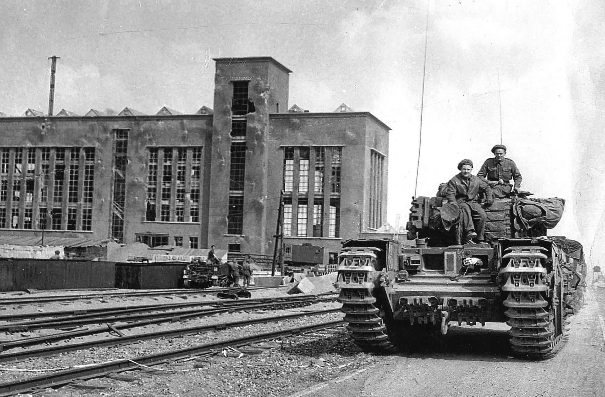 Industriepark Kleefse Waard poort tot Arnhem tijdens de bevrijding in 1945