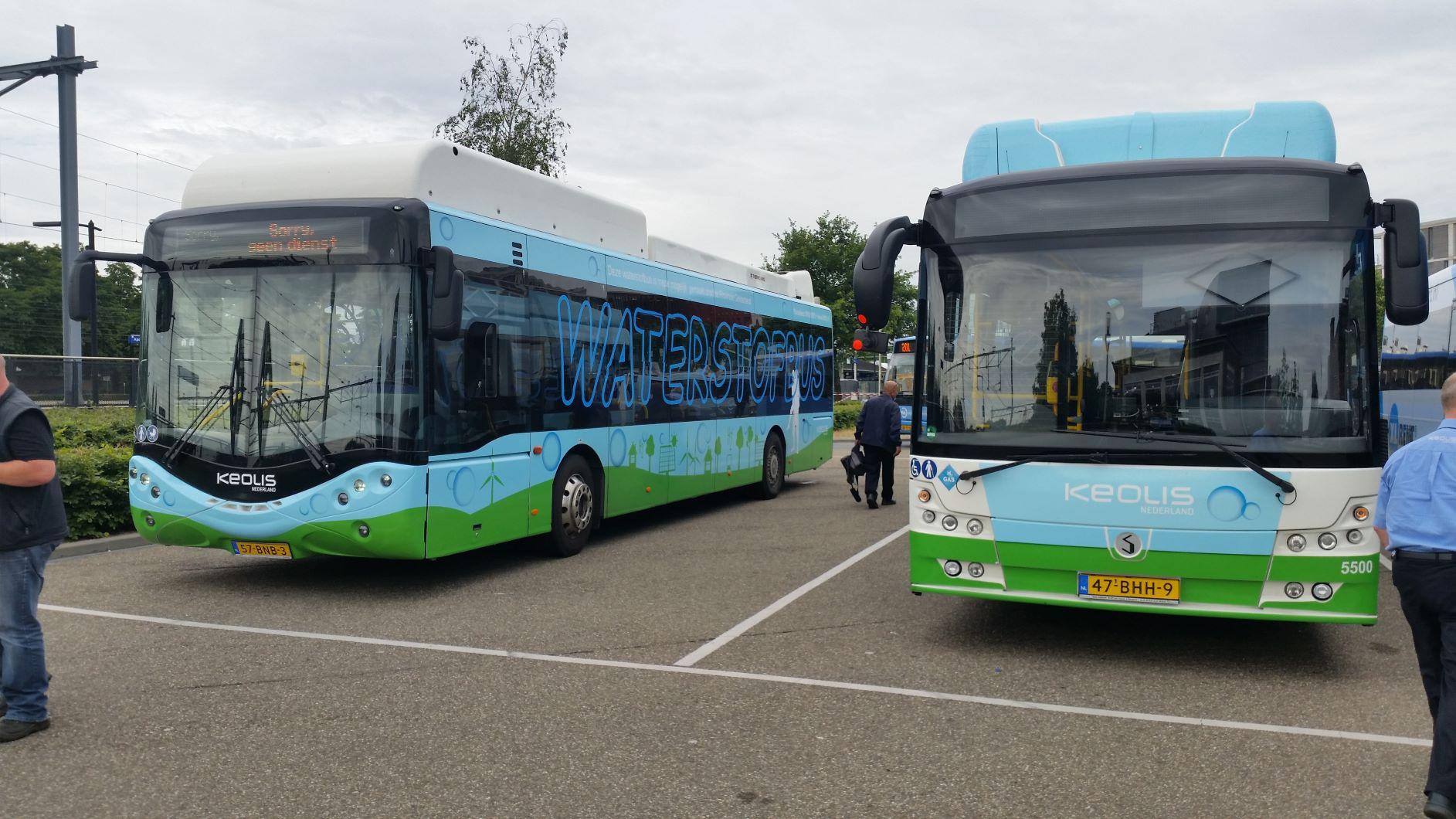 Waterstofbussen in Gelderse dienstregeling Keolis presteren uitstekend