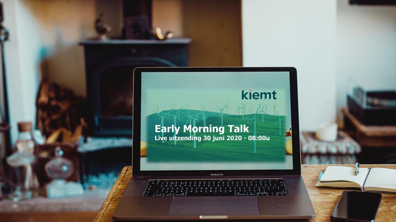 Kiemt Early Morning Talk: COVID-19 crisis positief ombuigen naar duurzame toekomst